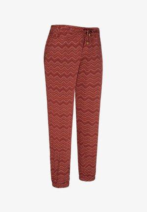 TALIN CHEVRON - Pantalones - henna