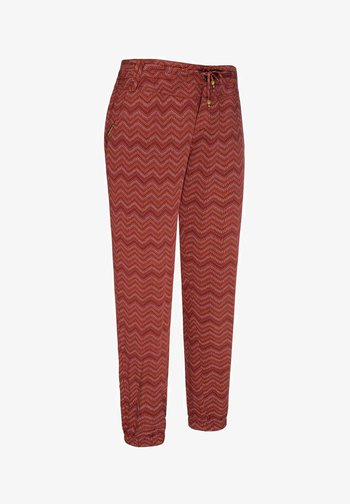 TALIN CHEVRON - Trousers - henna