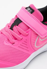 Nike Performance - STAR RUNNER 2 UNISEX - Neutral running shoes - pink glow/photon dust/black/white - 5