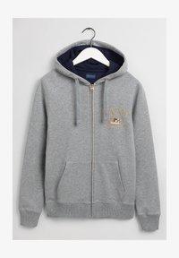 GANT - Zip-up sweatshirt - grey melange - 1