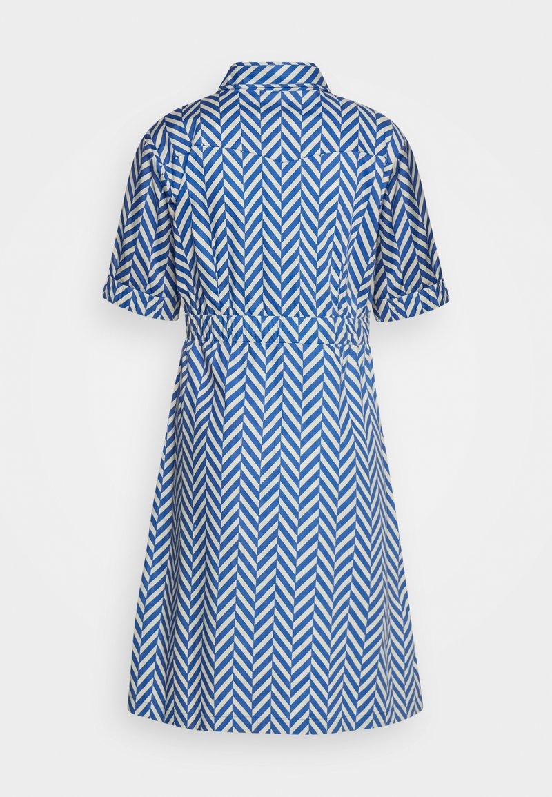 Danefæ København - SUSANNE DRESS - Shirt dress - indigo/beige