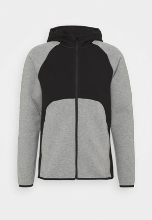 DIME JACKET - Trainingsvest - medium gray heather/black