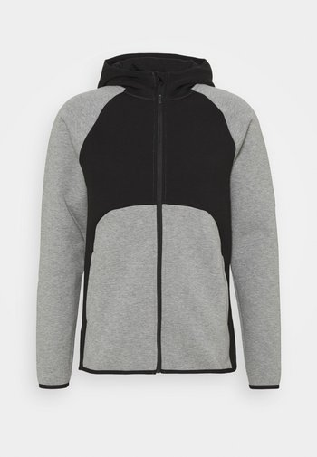 DIME JACKET - Träningsjacka - medium gray heather/black