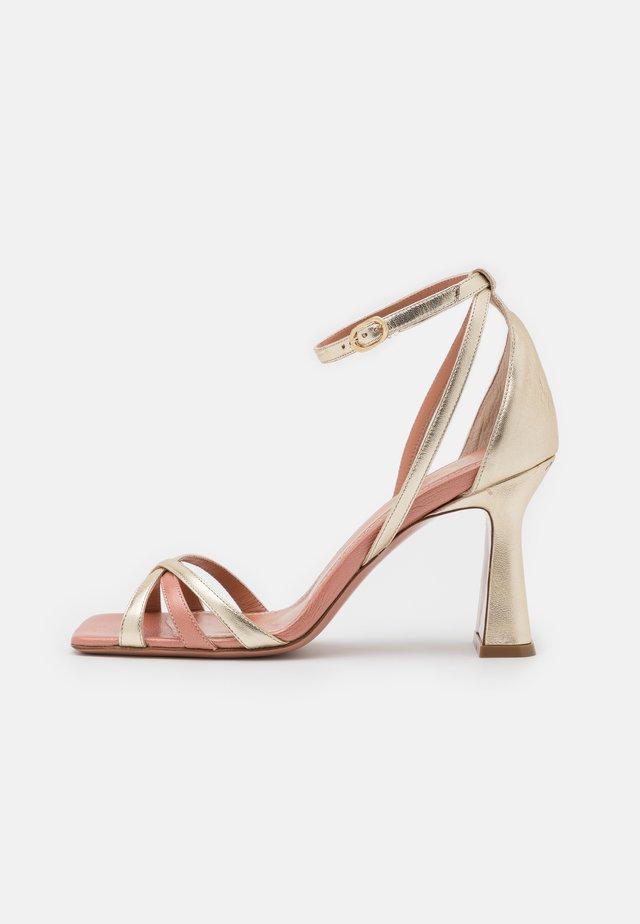 ALYSSA - Sandály na vysokém podpatku - sirio rosa/platino/rosa