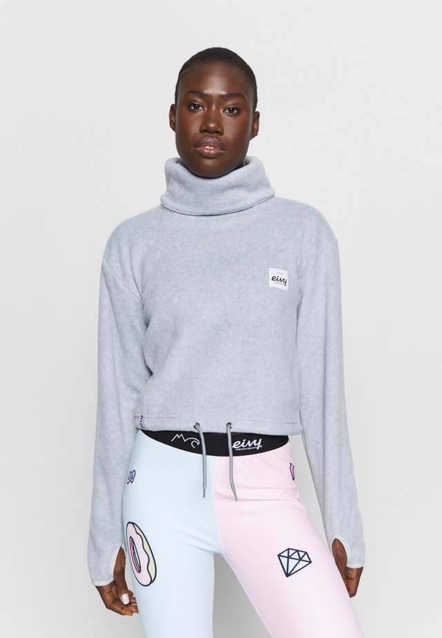PEG CROPPED - Fleece jumper - grey