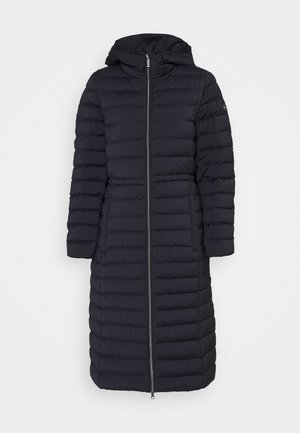 LONG STRETCH PACKABLE - Down coat - dark navy