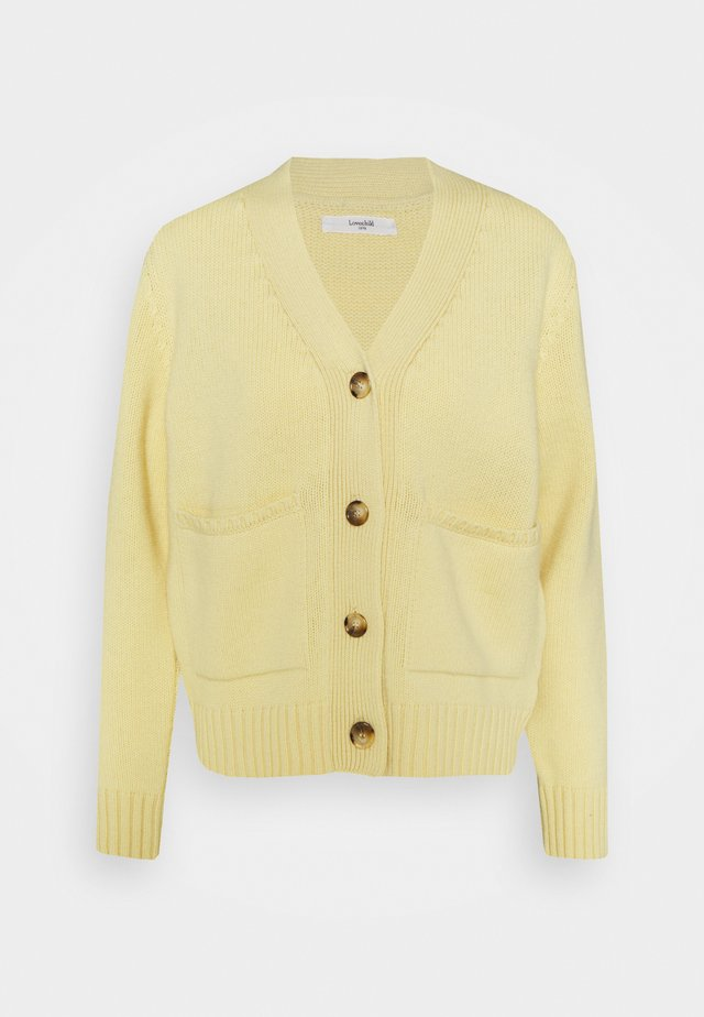 LOUI - Strickjacke - pale banana