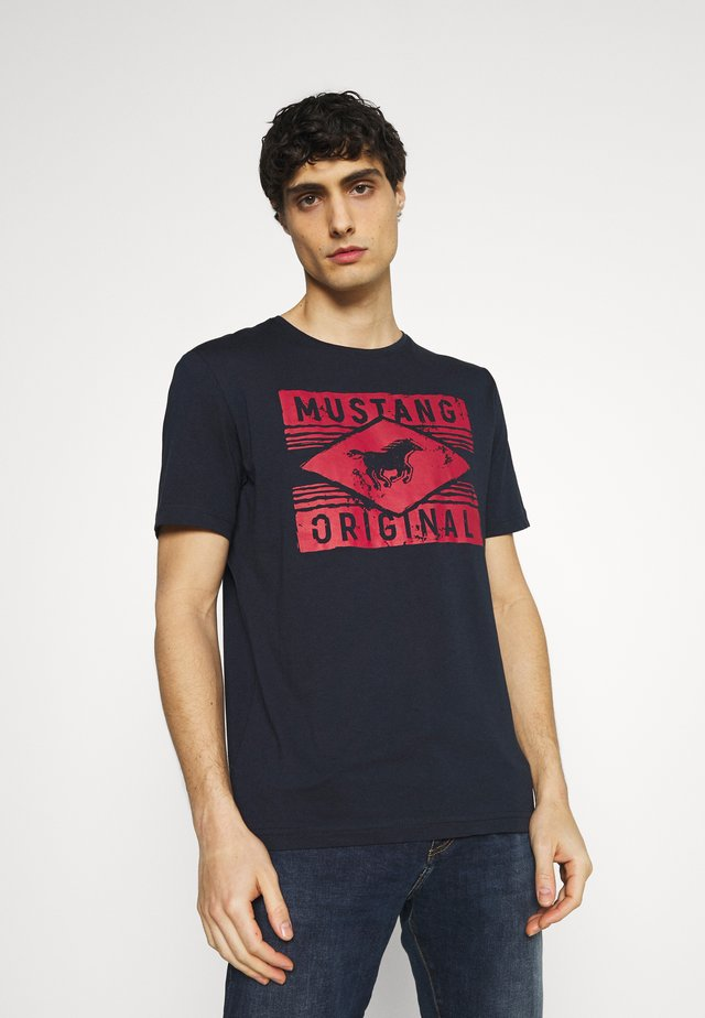 ALEX  - T-shirt imprimé - dark sapphire