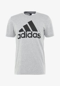 TEE - T-shirt print - medium grey heather/black
