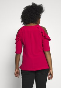 City Chic - WILD SLEEVE - Blůza - raspberry - 2