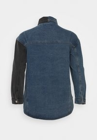 Missguided Plus - SPLICED CURVED HEM JACKET - Denim jacket - blue - 1