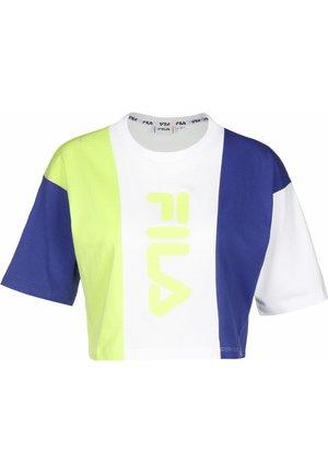 T-SHIRT BAI CROPPED - T-shirt imprimé - surf the web/sharp green/bri