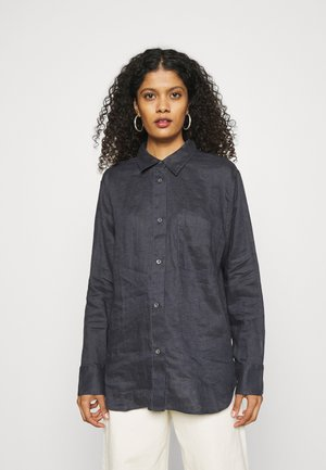 Button-down blouse - charcoal