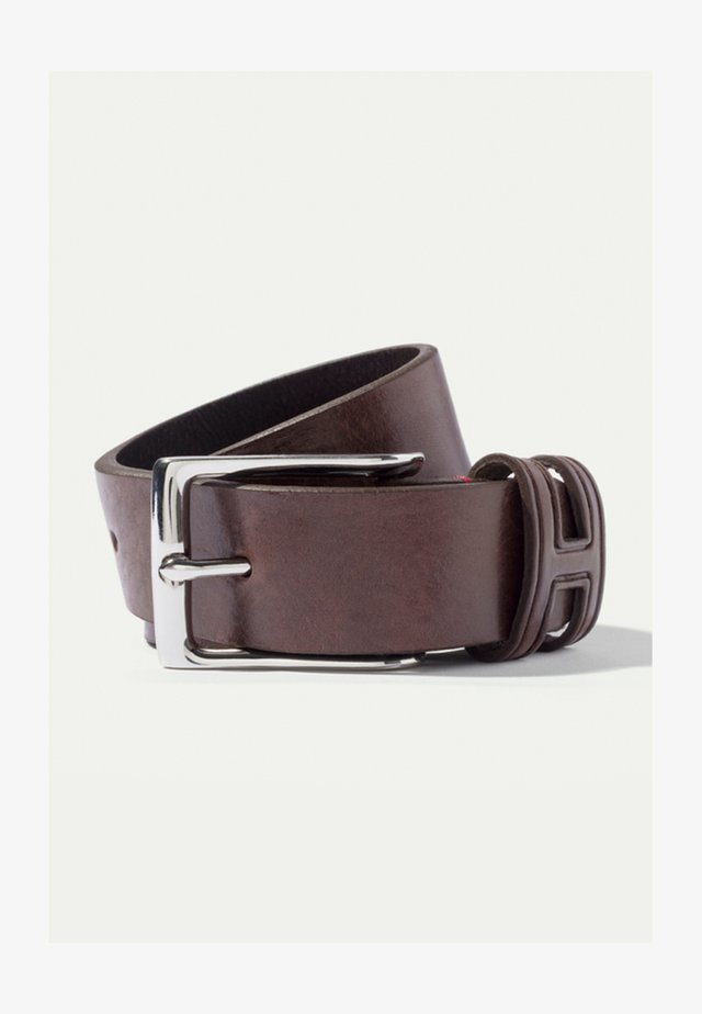 TACK STITCH KEEPER - Belt - brown