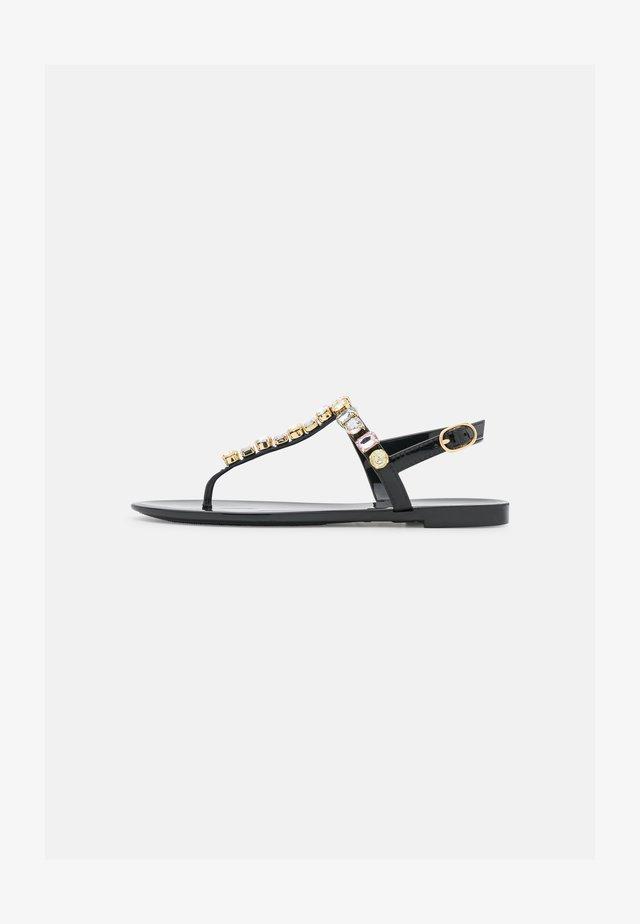 JAIDE GEM JELLY FLAT - T-bar sandals - black
