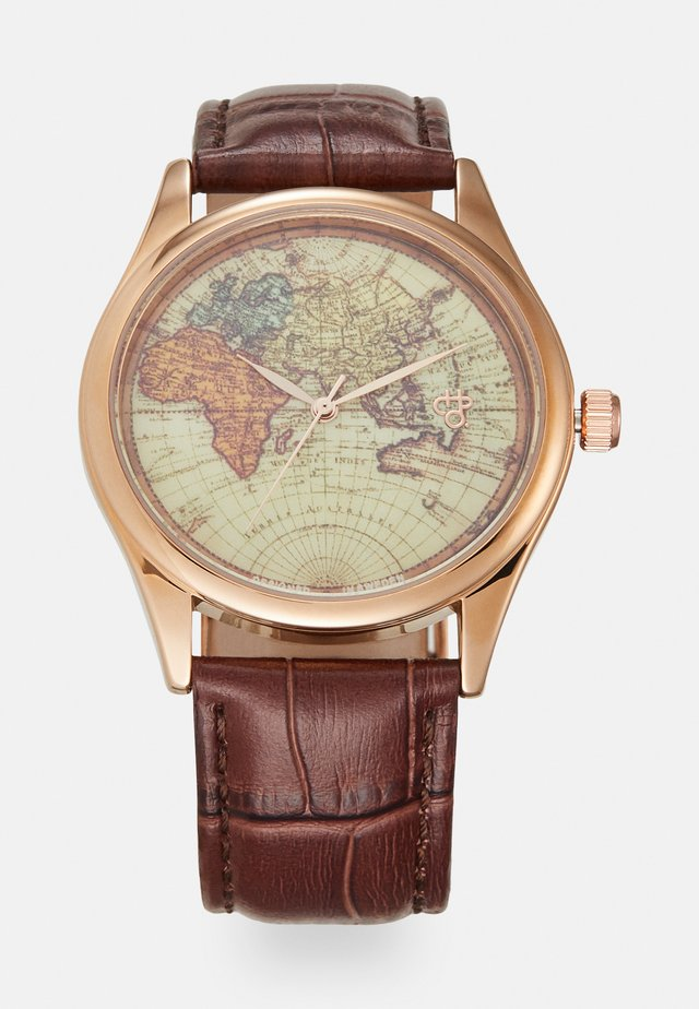VINTAGE WORLD - Hodinky - rose gold-coloured/brown