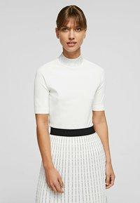 KARL LAGERFELD - RHINESTONES MOCK - Pullover - white - 0