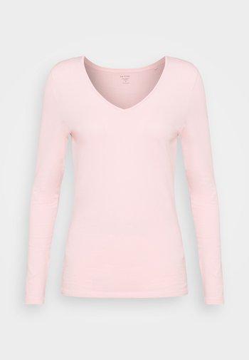 FITTED V NECK - Langærmede T-shirts - light pink