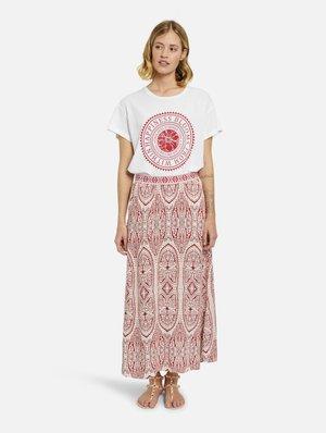 Maxi skirt - burgundy print