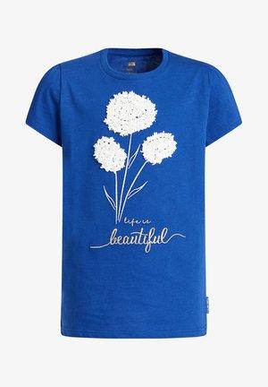T-shirt con stampa - cobalt blue