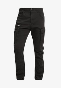 Jack & Jones - JJIDRAKE JJCHOP BLACK - Pantaloni cargo - black - 4