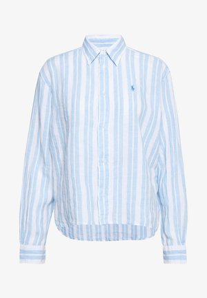 STRIPE - Button-down blouse - blue lagoon