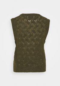 Soaked in Luxury - TUESDAY POINTA VEST - Jumper - military olive - 1