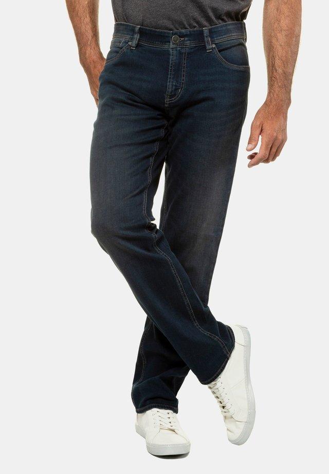 HERREN GROSSE GRÖSSEN BIS 70, JEANSHOSE, 5-POCKET, REGULAR - Straight leg jeans - blue denim