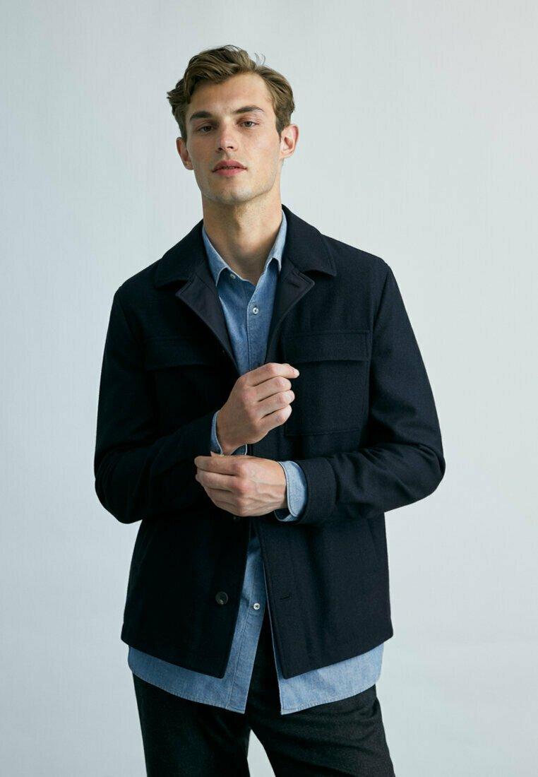 Massimo Dutti - MIT TASCHEN - Summer jacket - dark blue