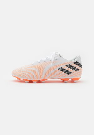 NEMEZIZ .4 FXG - Kopačky lisovky - footwear white/core black/screaming orange
