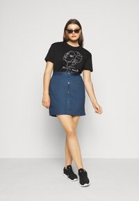 Even&Odd Curvy - A-line skirt - dark denim - 1