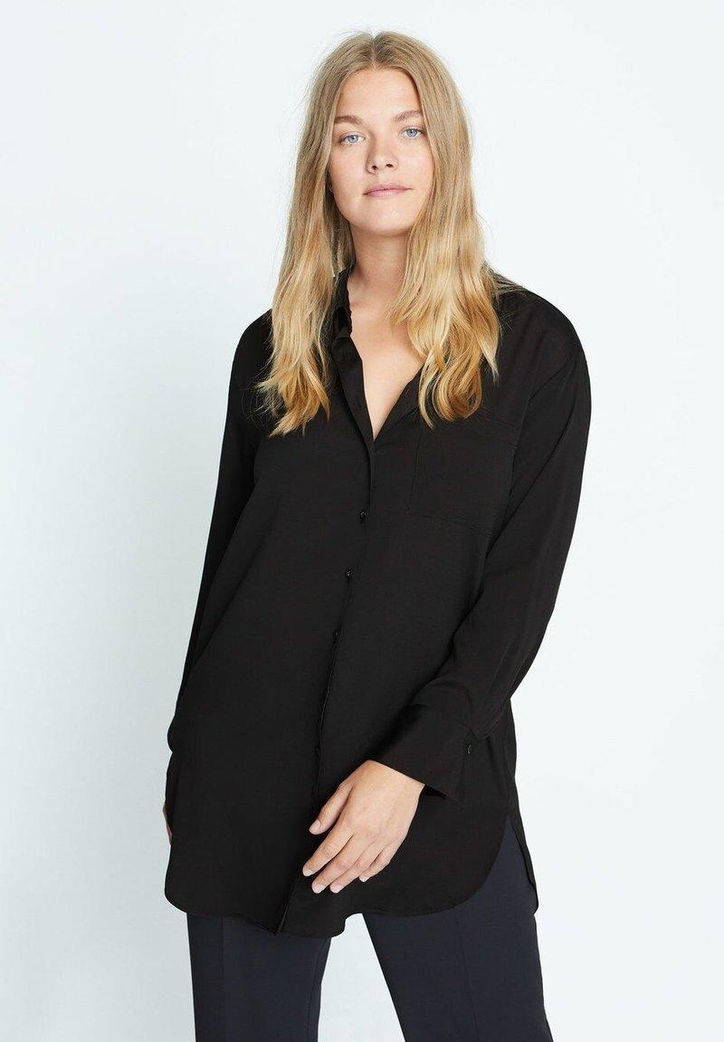 Violeta by Mango - LAURITA - Button-down blouse - černá