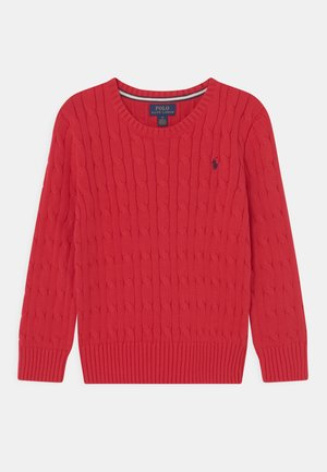 CABLE  - Strickpullover - red