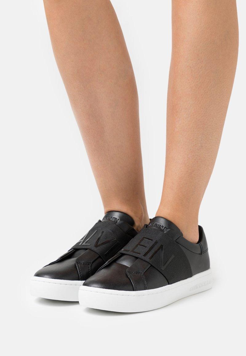 Calvin Klein Jeans - CUPSOLE ELASTIC - Trainers - black