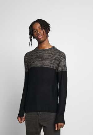 ROLAND - Maglione - black/charcoal twist