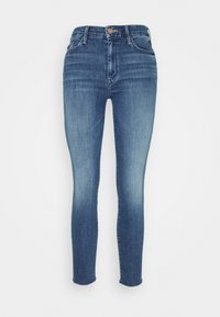 Mother - LOOKER ANKLE FRAY - Skinny džíny - blue denim - 0