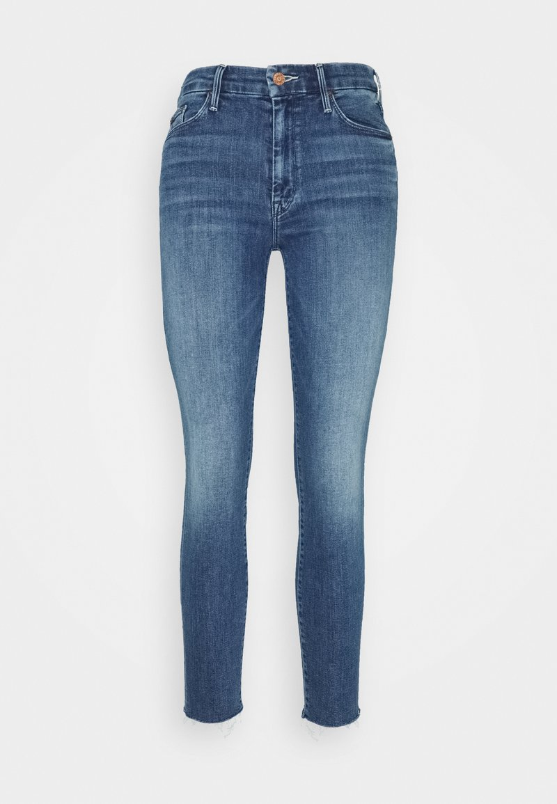 Mother - LOOKER ANKLE FRAY - Skinny džíny - blue denim