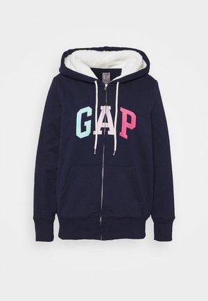 SHERPA - Zip-up hoodie - navy
