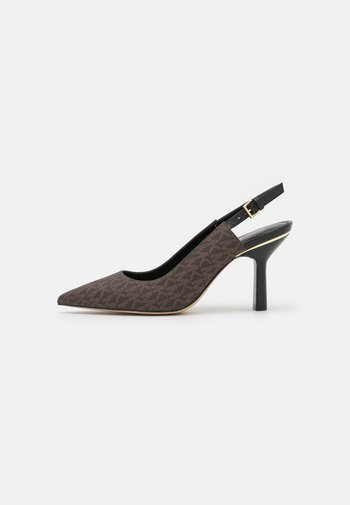 CLEO SLING - Tacones - brown/black