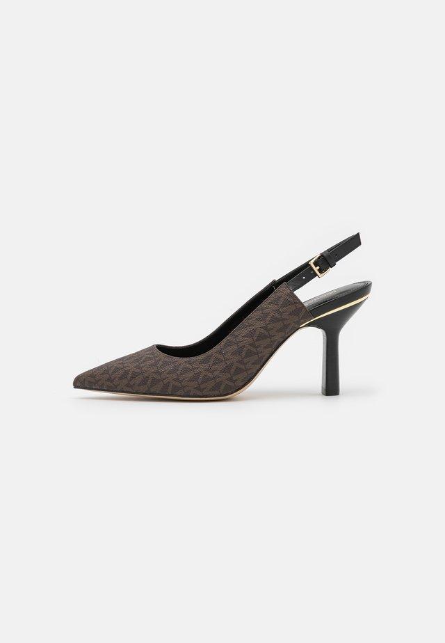 CLEO SLING - Escarpins - brown/black