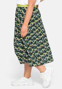Sheego - A-line skirt - tiefgrün gemustert - 4