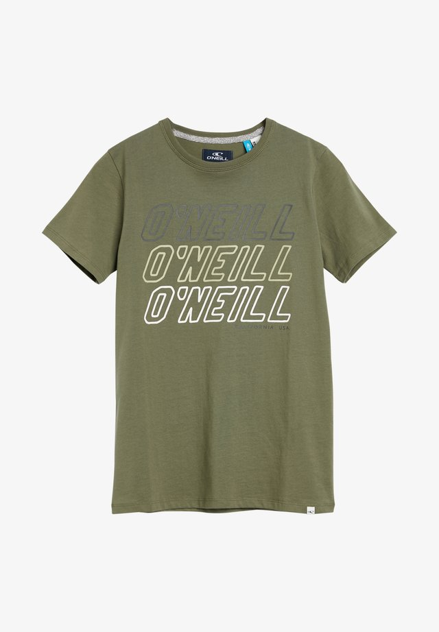 TEES ALL YEAR SS T-SHIRT - T-shirt print - olive leaves