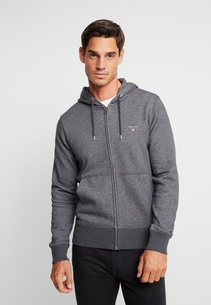 THE ORIGINAL FULL ZIP HOODIE - Huvtröja med dragkedja - antracit melange