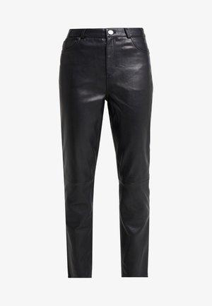 BOOGIE - Kožené kalhoty - black