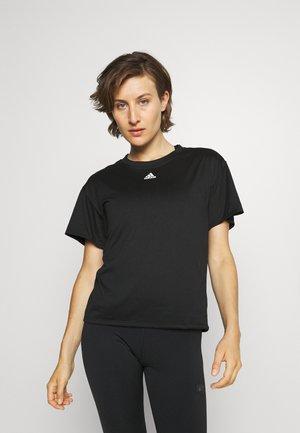 3 STRIPES DESIGNED4TRAINING AEROREADY - T-shirts med print - black
