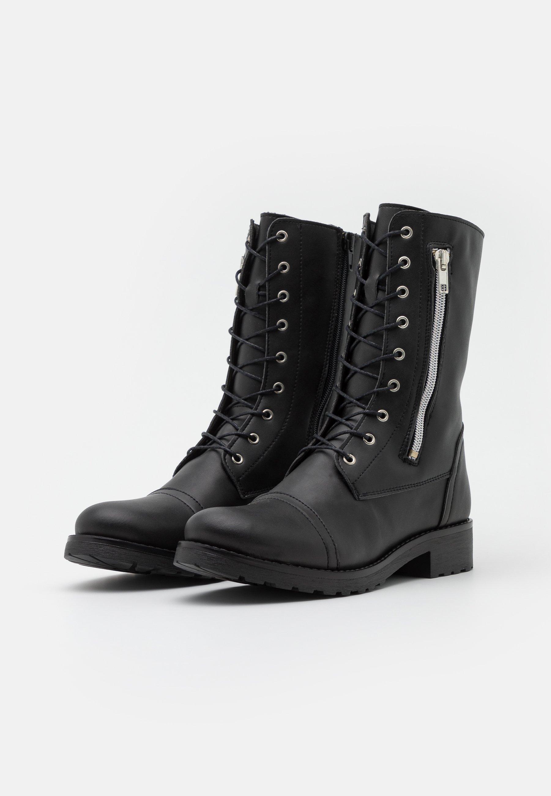 NAE Vegan Shoes ZAIRA VEGAN Schnürstiefel black/schwarz