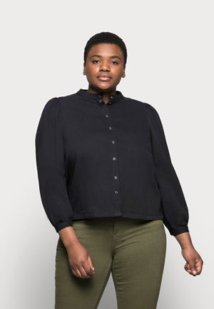 PCPALI BOX - Button-down blouse - black