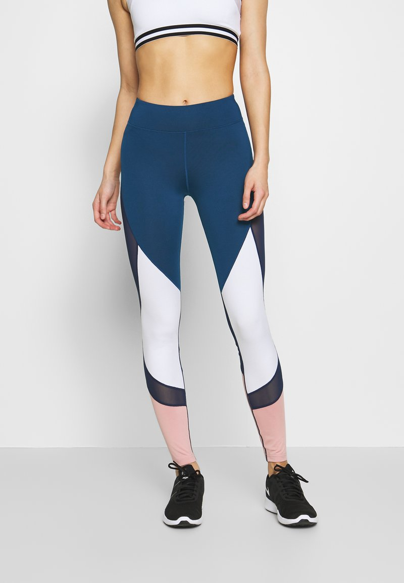 Even&Odd active - Leggings - dark blue/pink/light grey