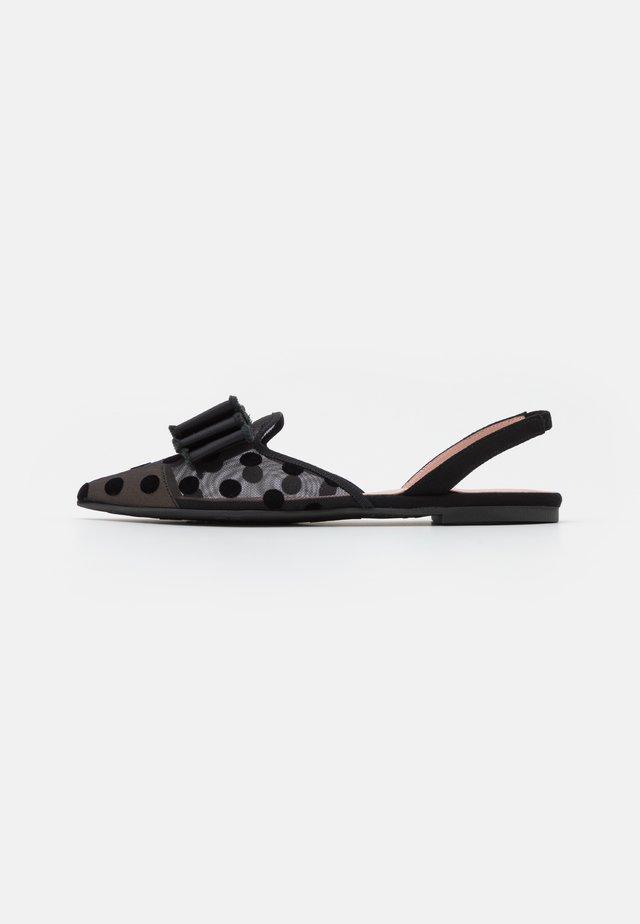 MARA - Sandaler - black/transparente