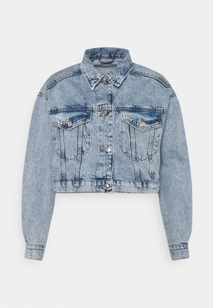 CROPPED JACKET - Veste en jean - blue